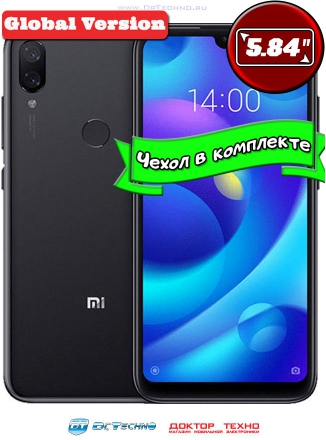Xiaomi Mi Play 4/64GB Global Version Black (Черный)