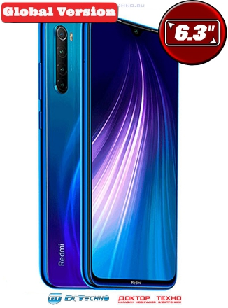 Xiaomi Redmi Note 8 4/64GB Global Version Blue (Синий)